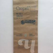 Крафт-пакет ВИНАР 100х250 мм с индикатором коричневый (100 шт/уп)