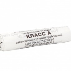 Пакет для утилизации класса А  60 л, 100 шт/уп