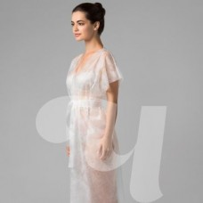 Халат-кимоно SMS без рукавов белый  (10 шт/уп)