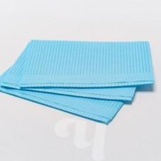 Салфетки бумажные непромокаемые 33х45 см голубые     500 шт/уп